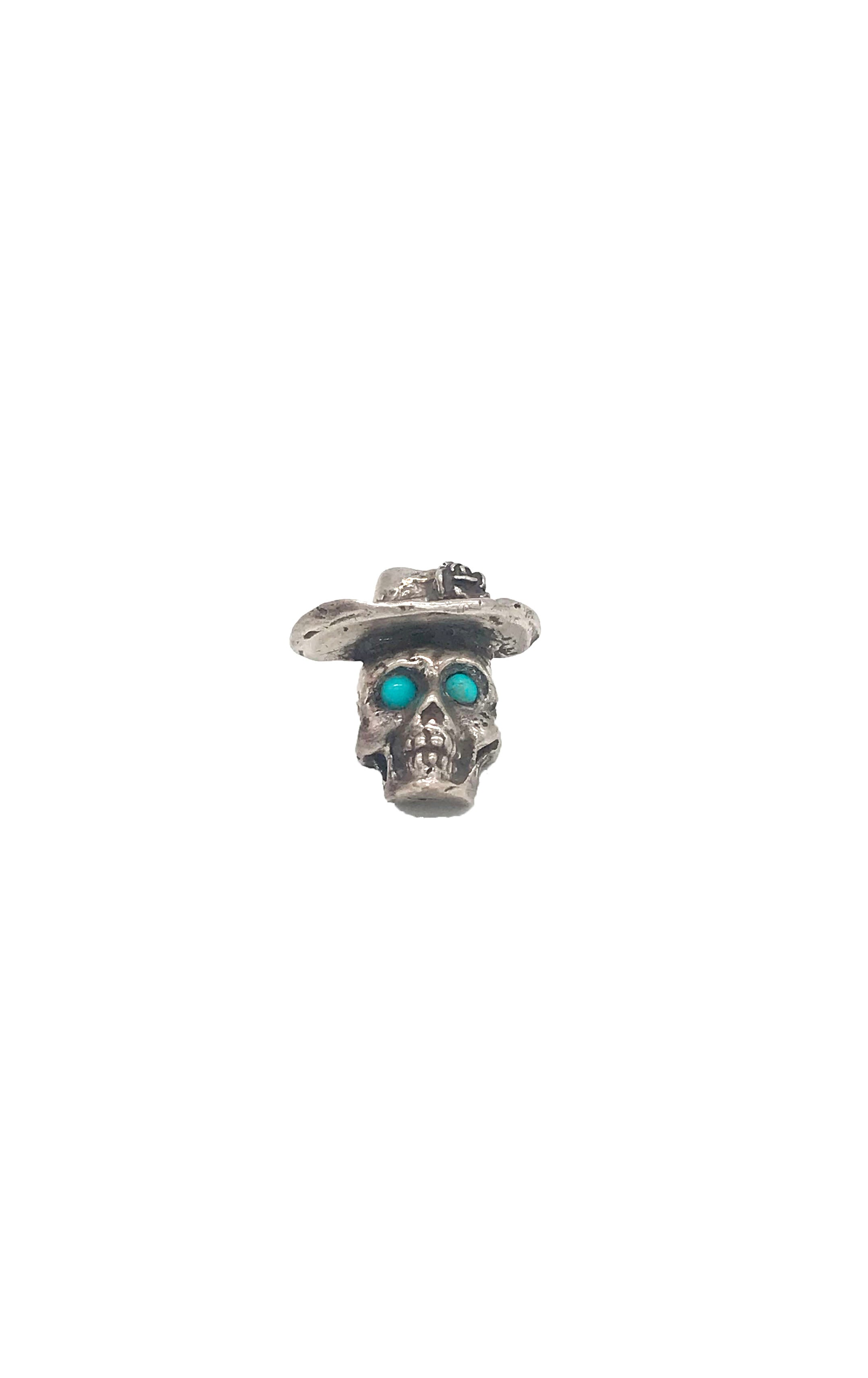 Turquoise Day of the Dead Hat Pin