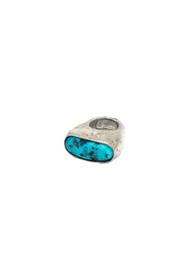 Rectangle Sleeping Beauty Turquoise Ring