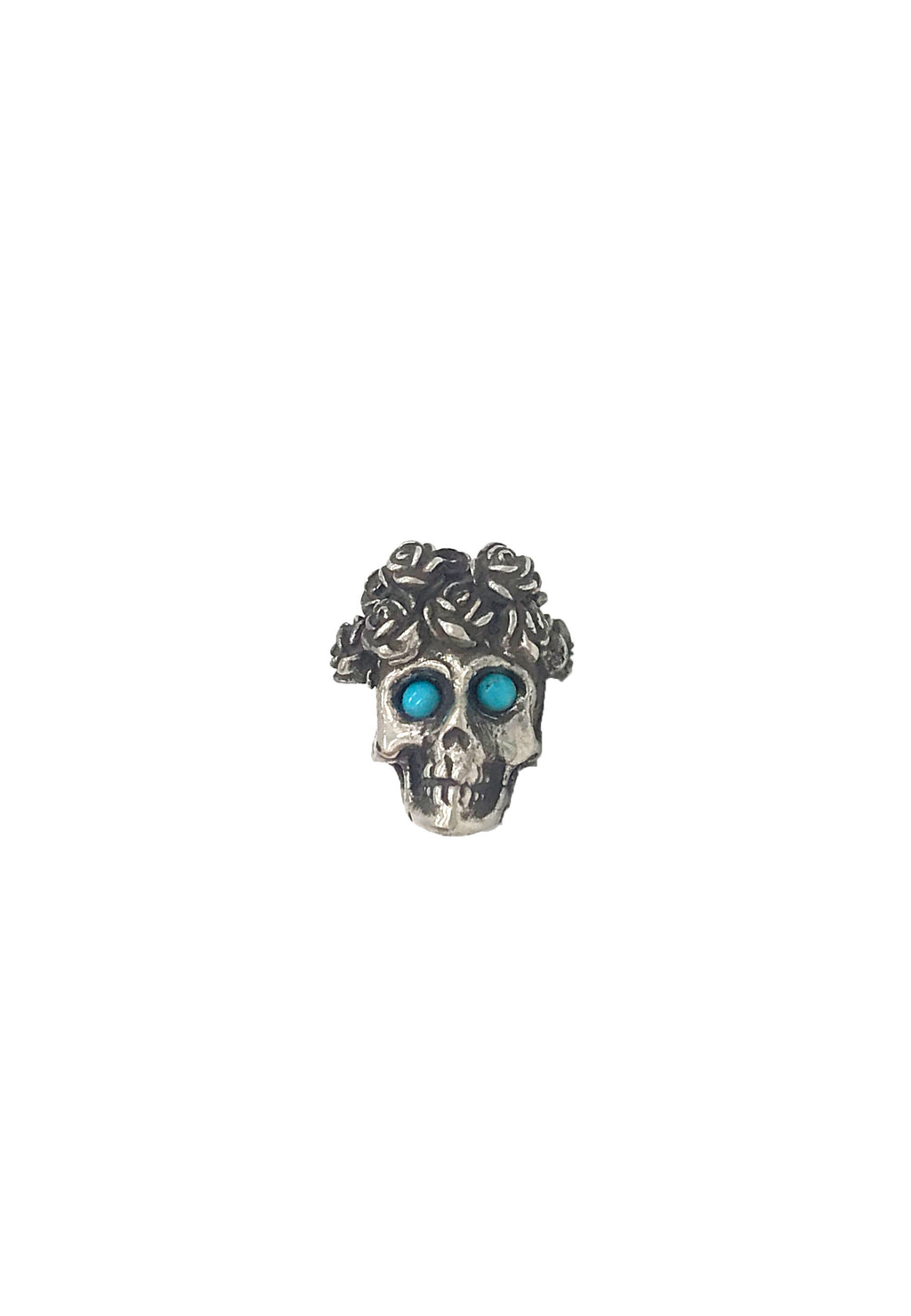Turquiose Day of the Dead Hat Pin