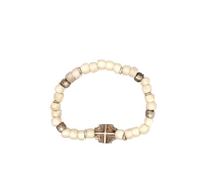 Beaded Bone Tribal Bracelet