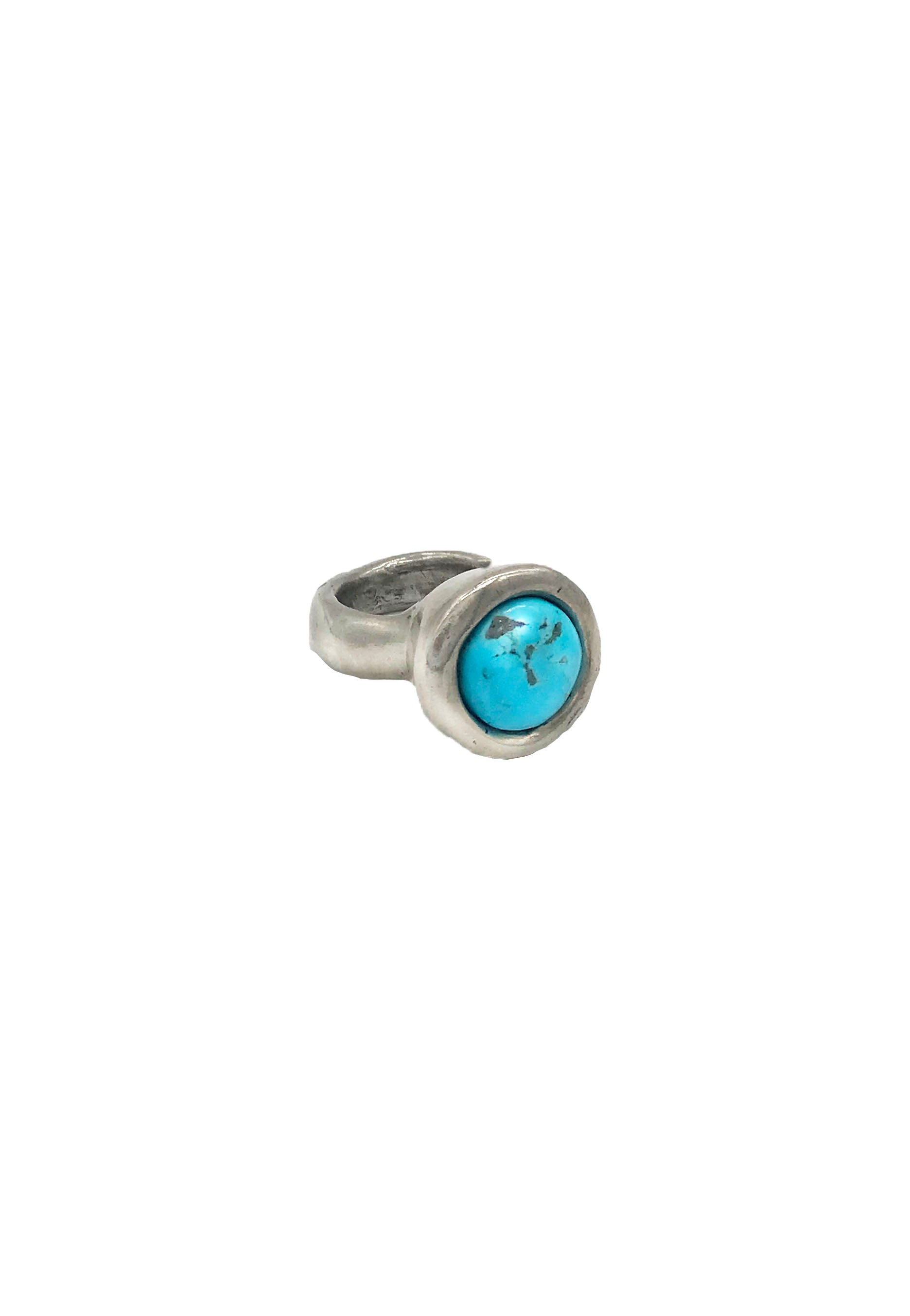 Kingman Turquoise Egg Nest Ring