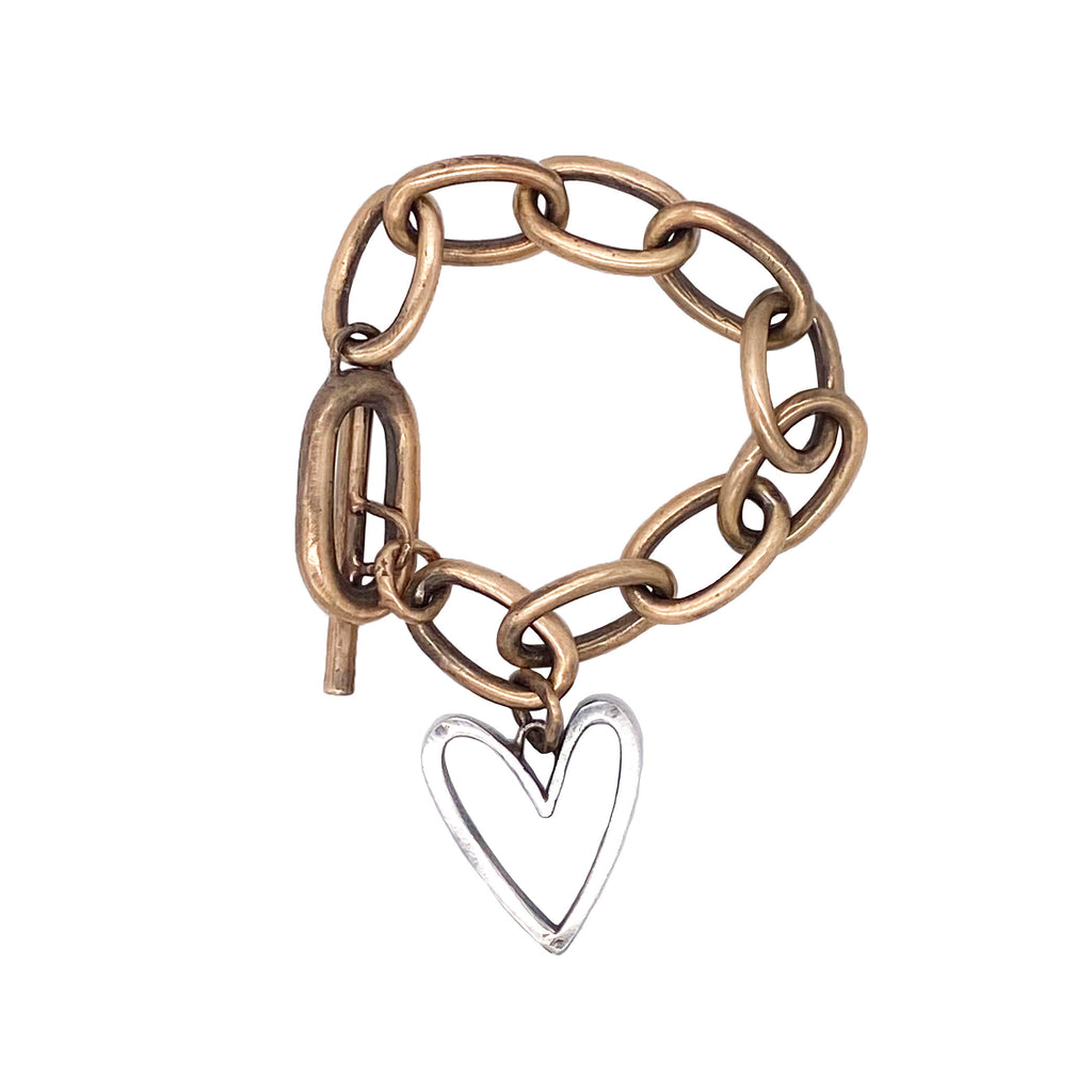 Abstract Heart Chain Bracelet