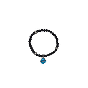 Turquoise Black Stretch Bracelet