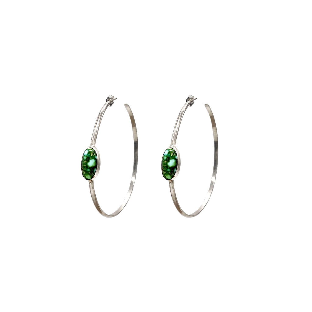 """Ho Hoops"" earrings"