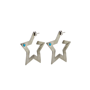 Turquoise Star Earrings