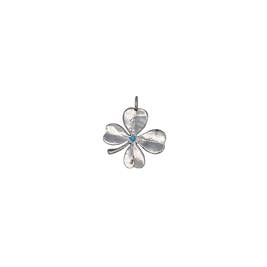 Turquoise Clover Charm