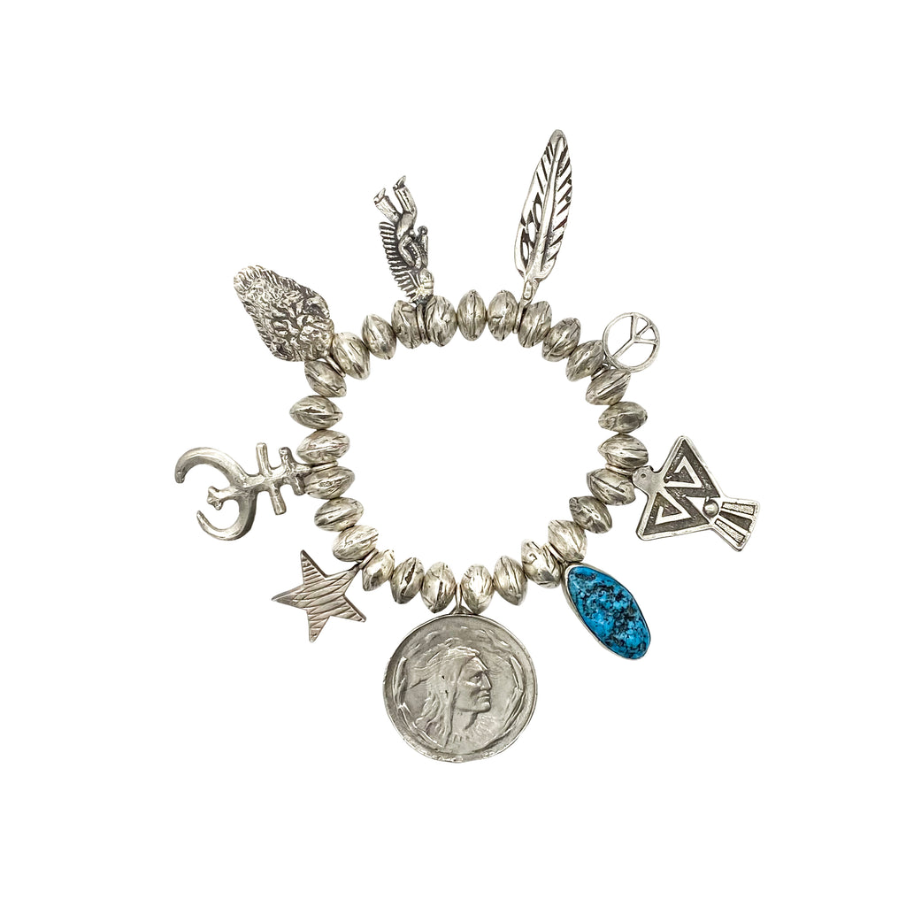 Chief and Turquoise Charm Bracelet
