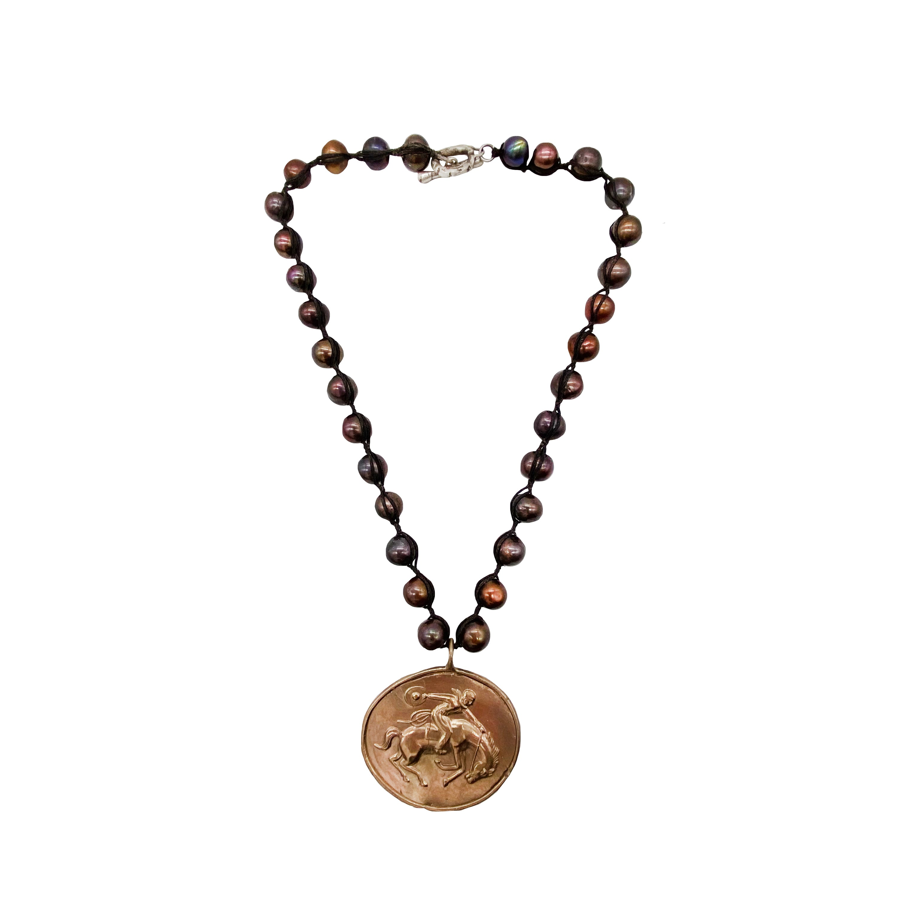 Brown Pearl Bronc Necklace