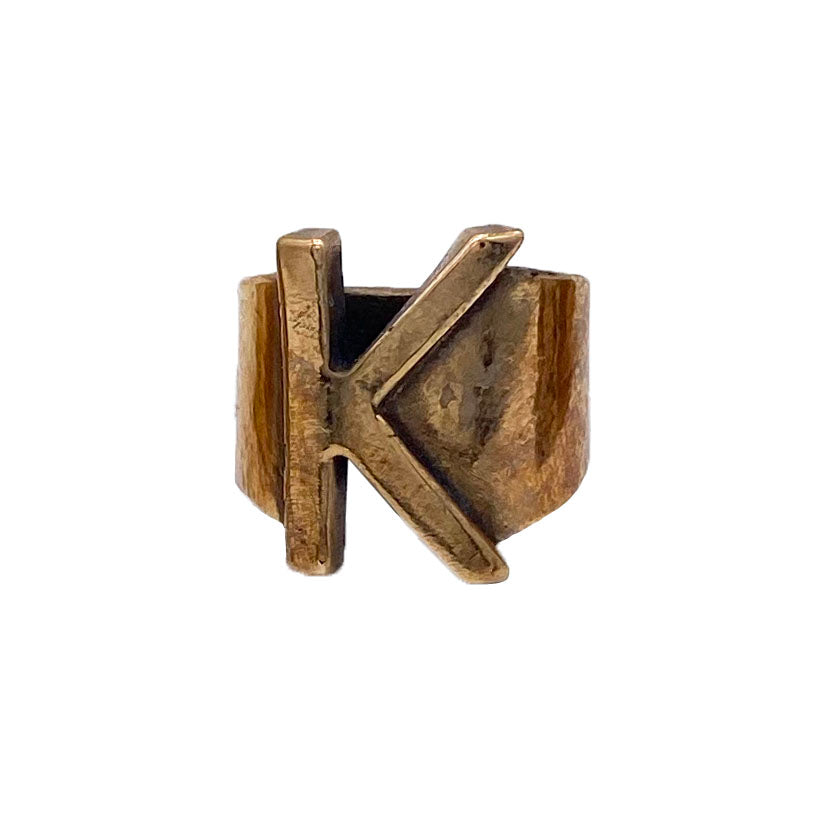 Bronze Initial It Ring