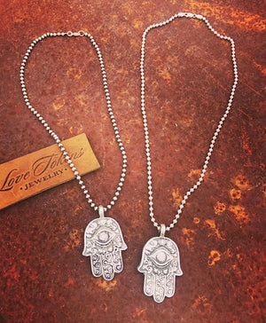 Hamsa Diamond Necklace