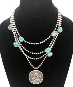 Madonna Triple Chain Necklace