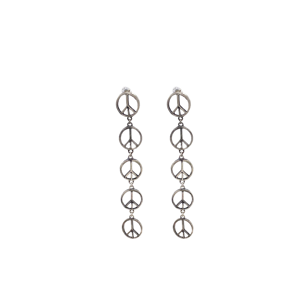 Peace Sign Duster Earrings - LTJ Exclusive