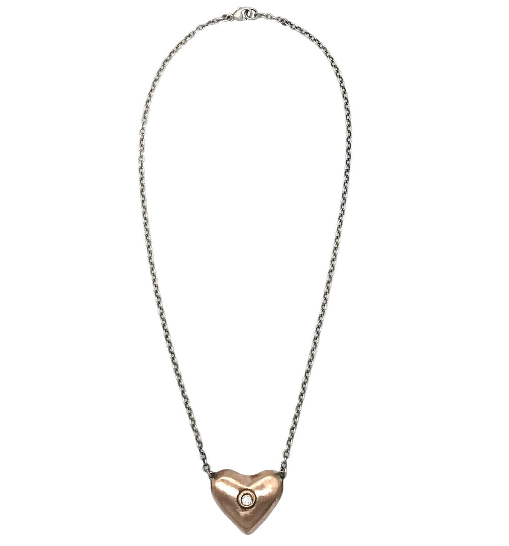 Girl of the Golden Heart Necklace