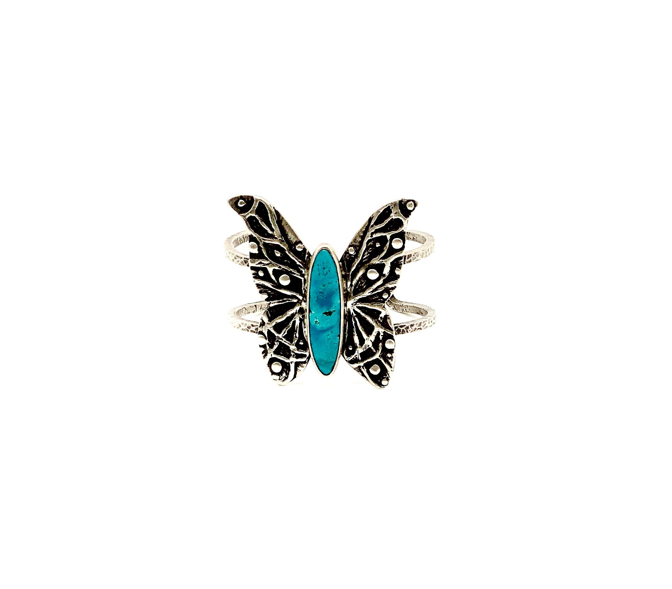 Butterfly Turquoise Cuff