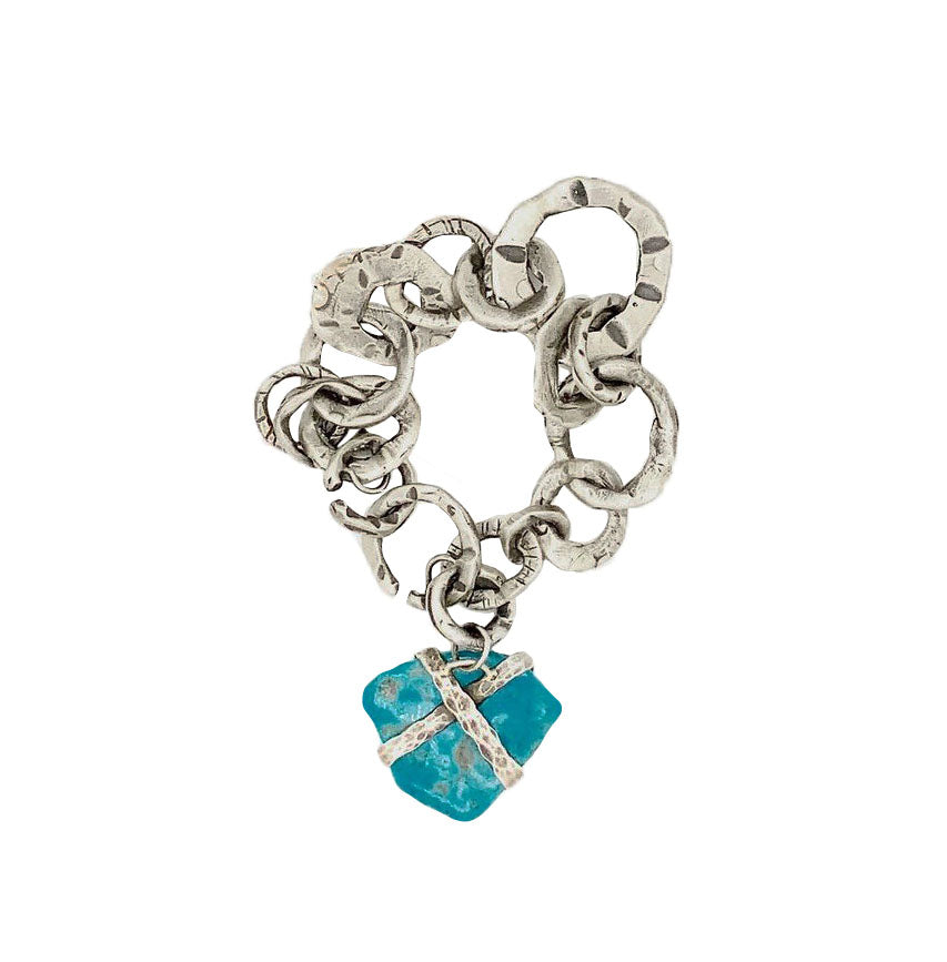Wrapped Turquoise Chain Bracelet