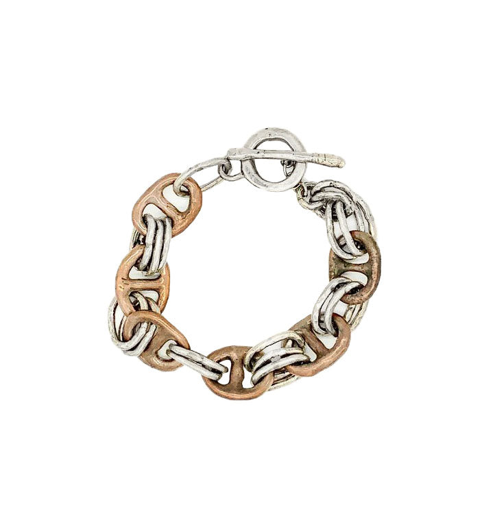 Mens Mixed Metal Bracelet