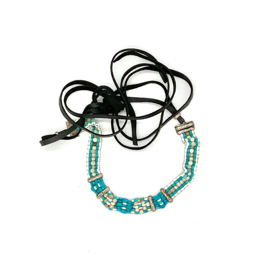 Hand Loomed Turquoise Choker