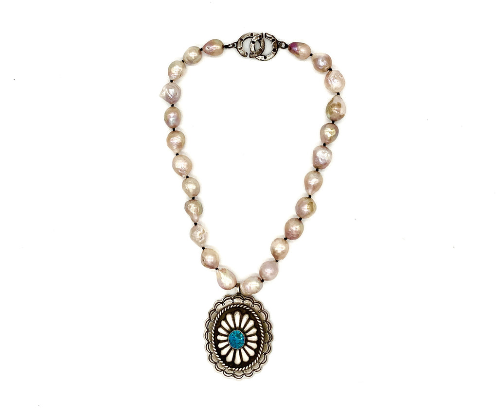 Concho Pearl Necklace