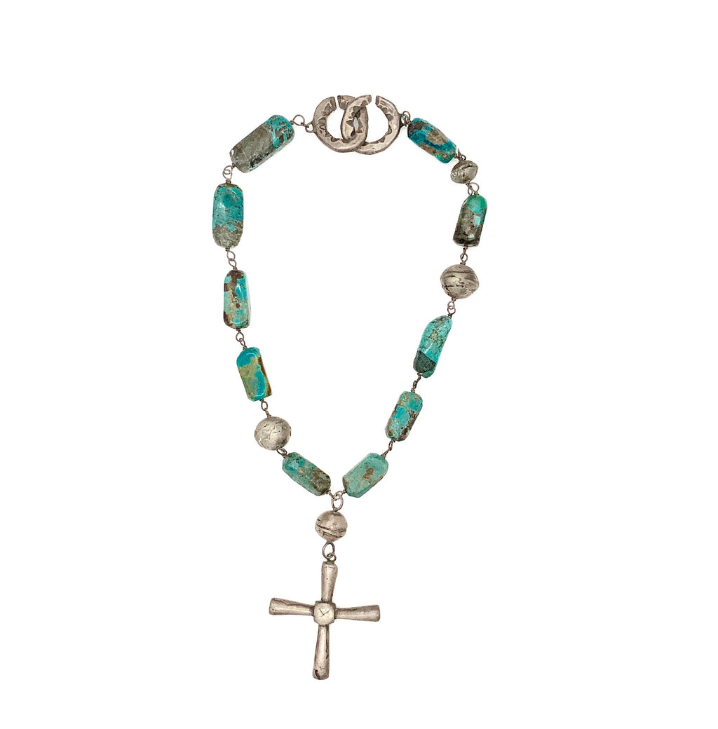 Boulder Turquoise Cross Necklace