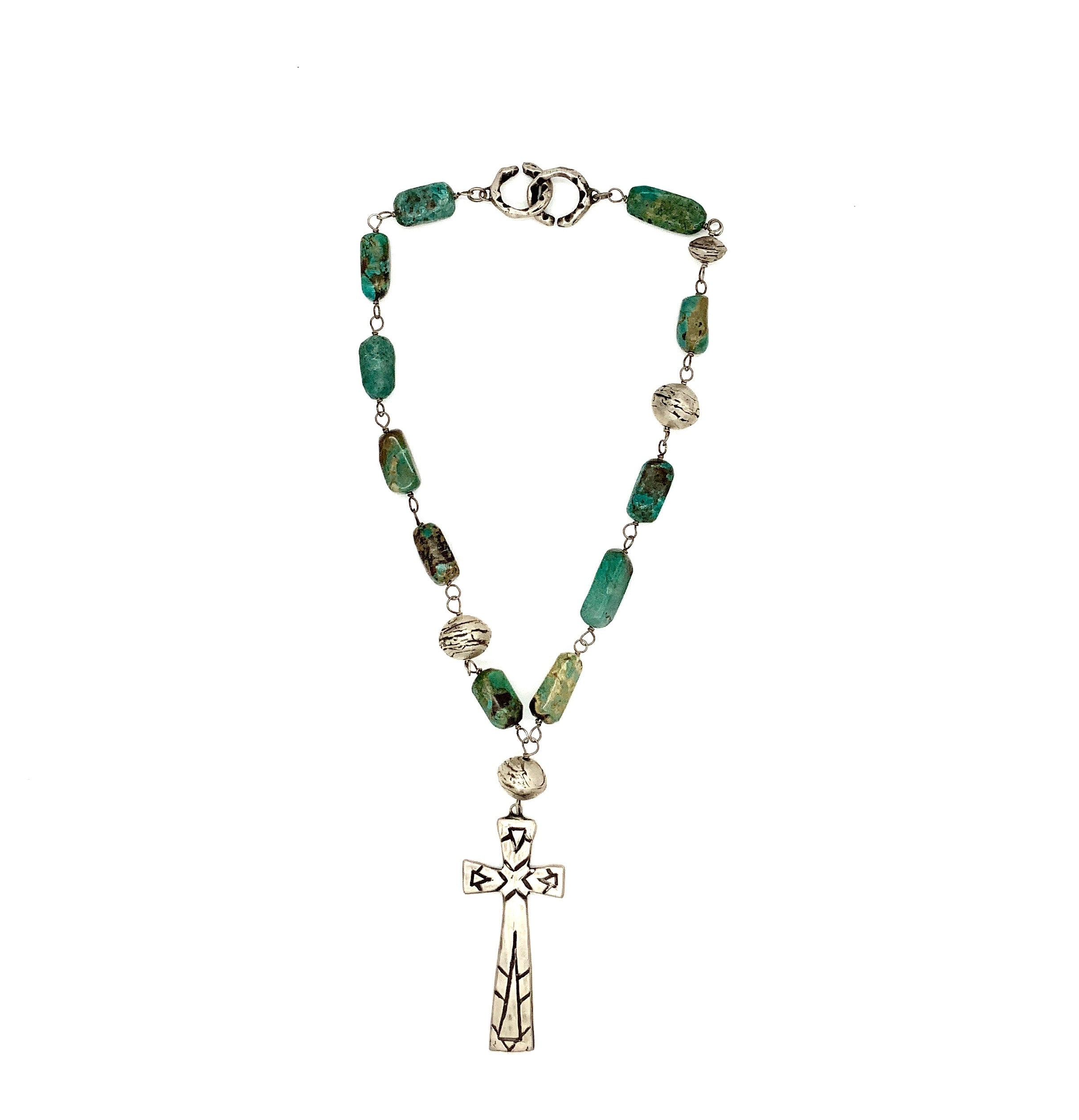 Boulder Turquoise Cross Necklace - Stimulus