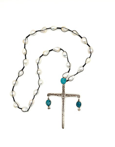 Cross Macrame Necklace