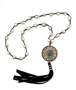 Marcrame Tassel Necklace