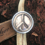 Mixed Metal Keep the Peace Ring