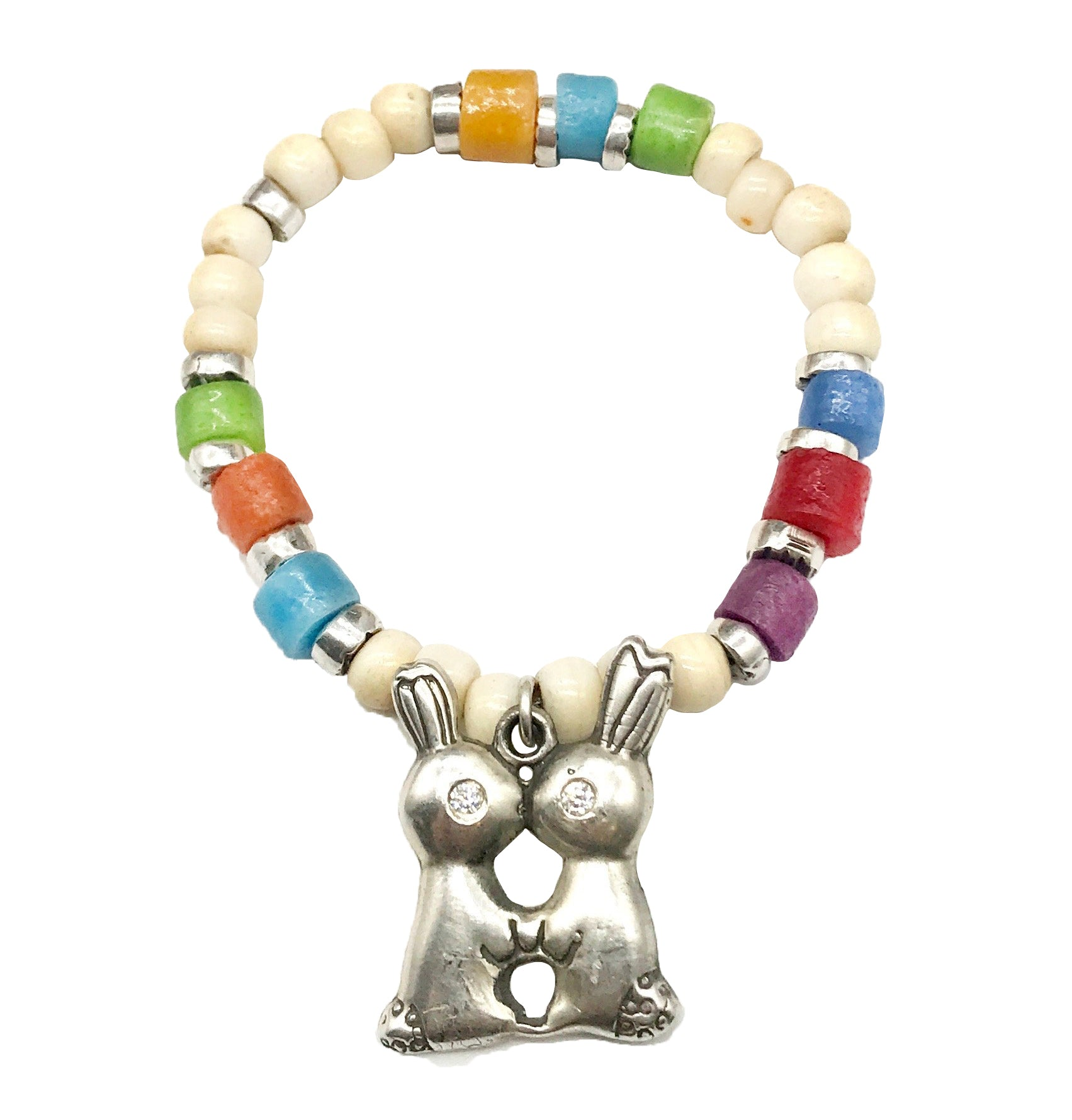 Kissing Bunny Stretch Bracelet - LTJ exclusive