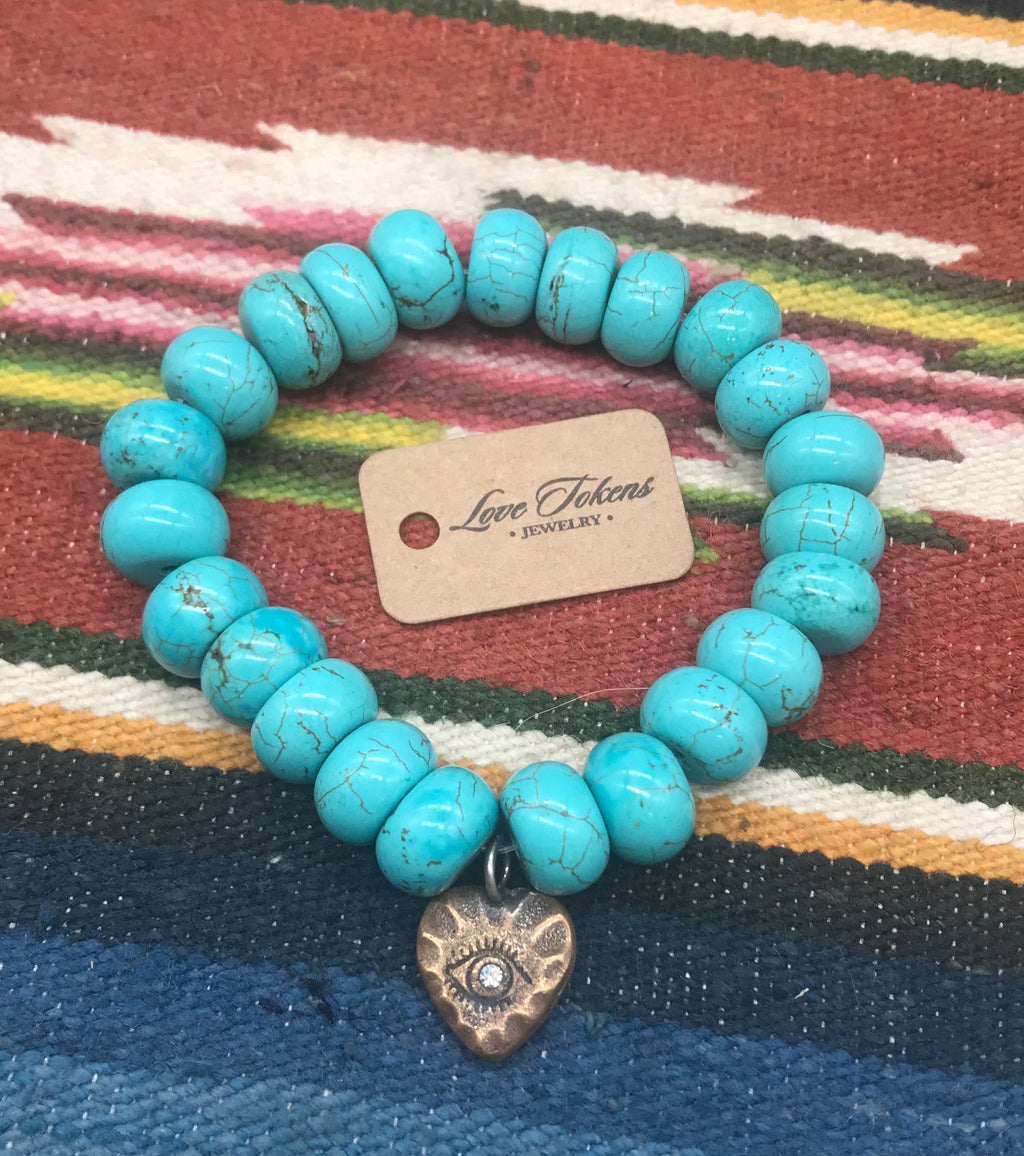 Turquoise Stretch Bracelet - LTJ Exclusive