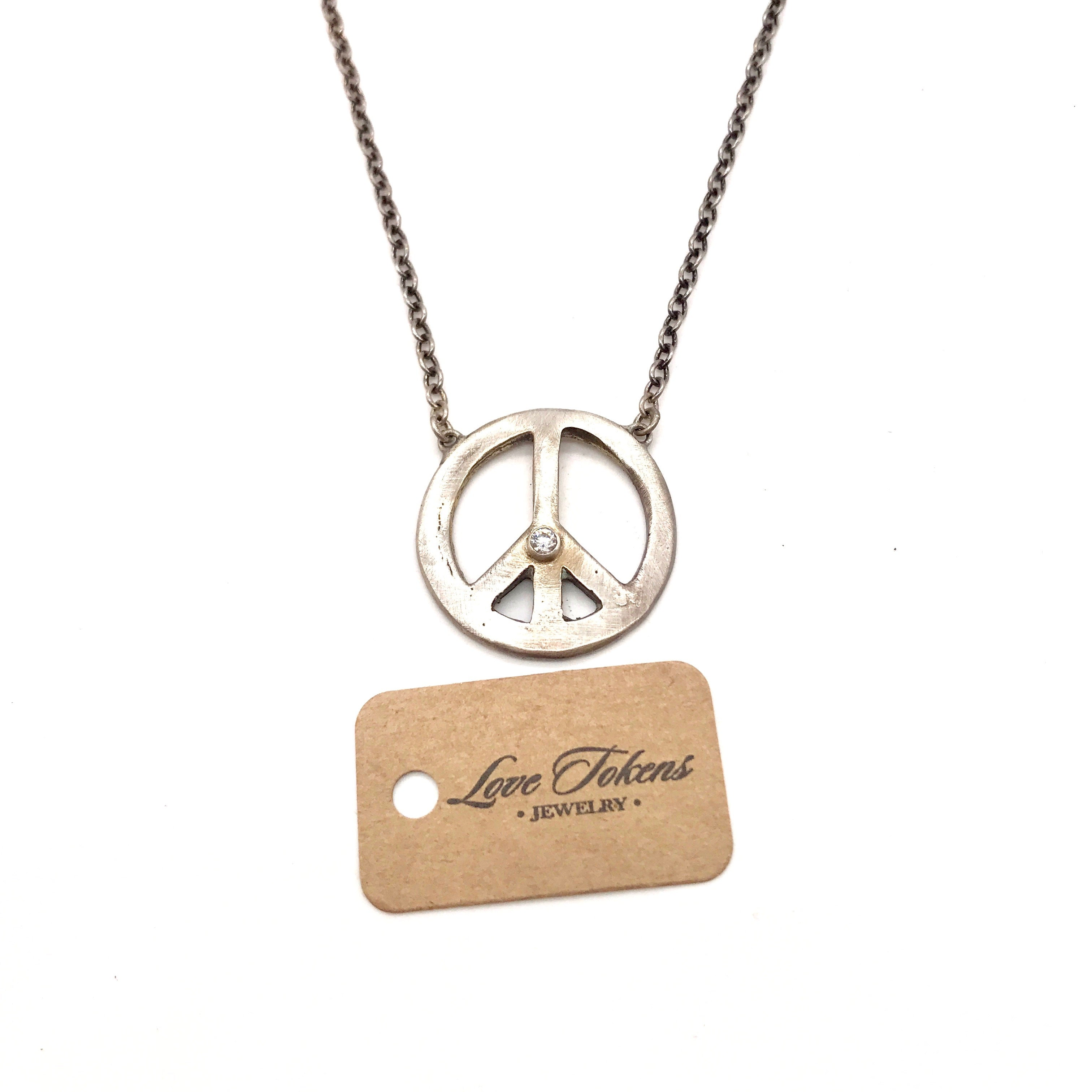 SS Peace Sign Necklace - Stimulus