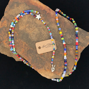 Trade Bead Peace Rosary Necklace - LTJ Exclusive