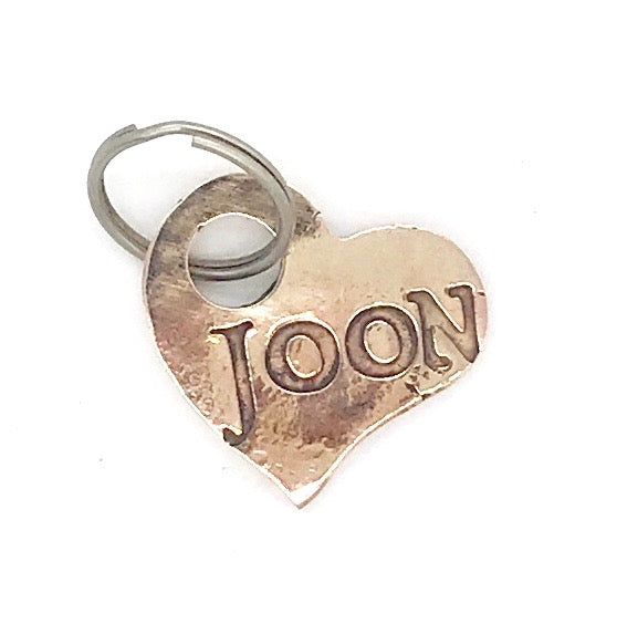 Bronze Heart Dog Tag