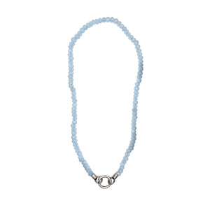 Faceted Blue Chalcedony Necklace