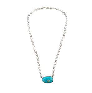 Pearl and Turquoise Choker - LTJ Exclusive