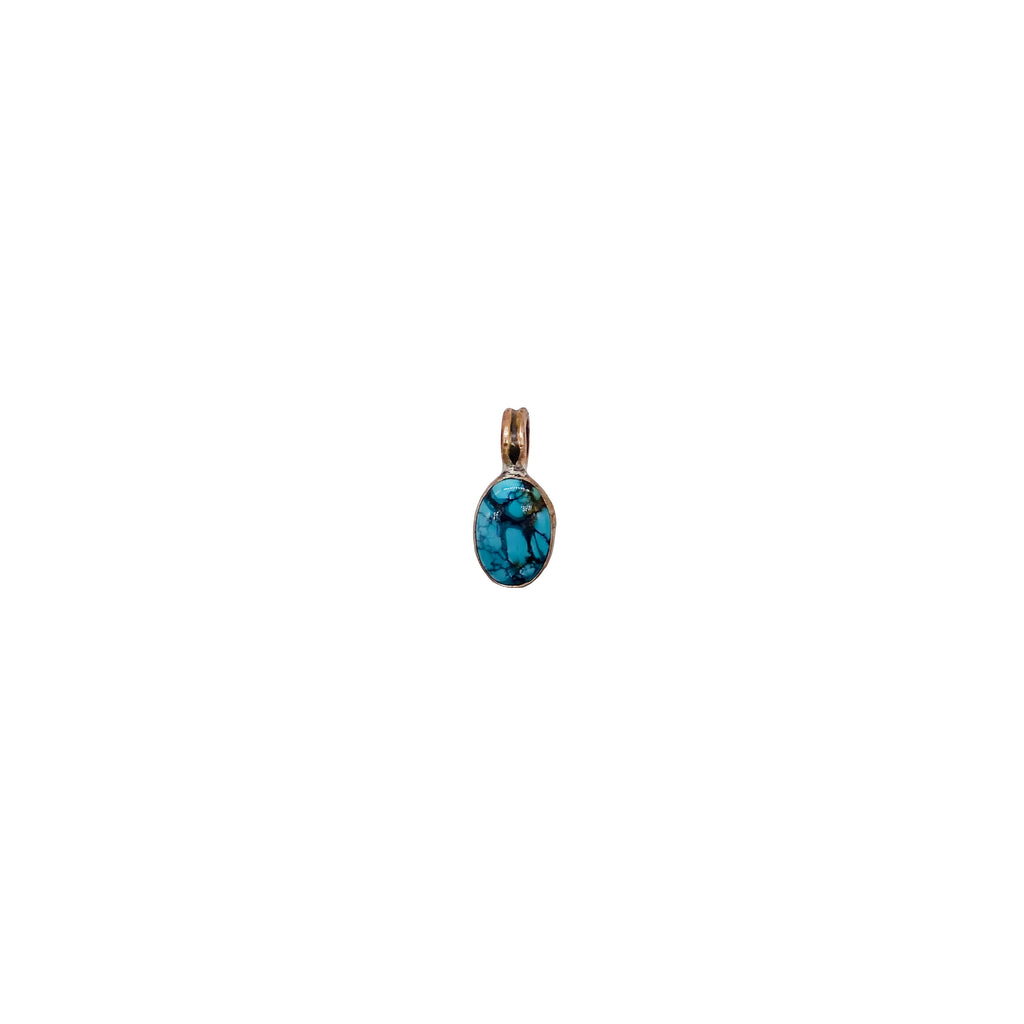 Blue Moon Bronze Charm