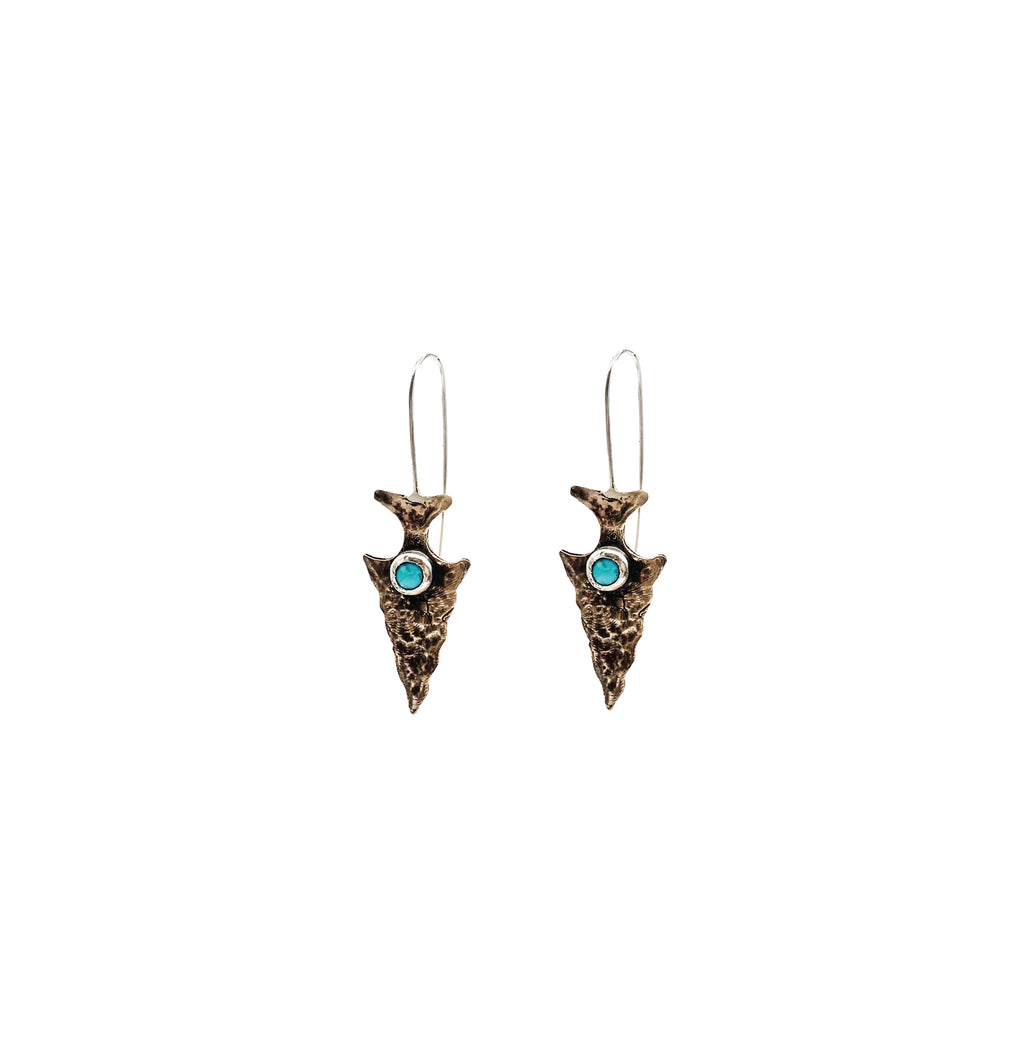 Bronze and Turquoise Arrowheads