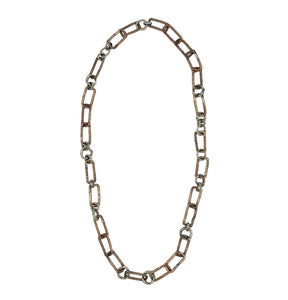 Mixed Metal Anything But Square Chain