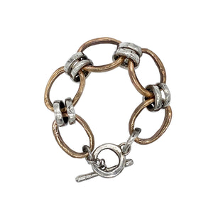 Mixed Metal Bracelet - Plain but not Jane