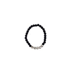 Word Up Black Bead Bracelet