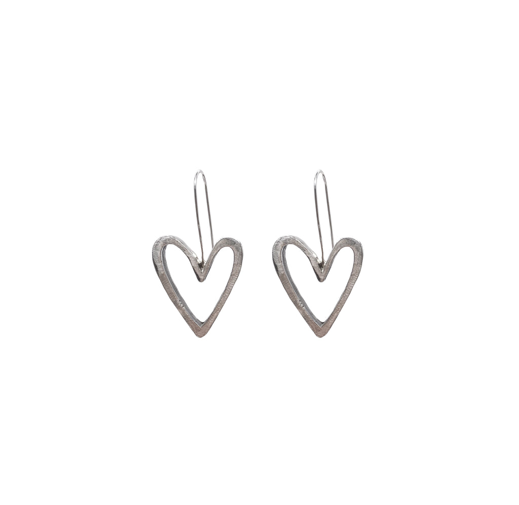 Abstract Heart Earrings
