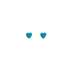 Kingman Heart Studs