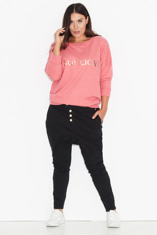 17 Logo Sweat Top- Rose PRE ORDER