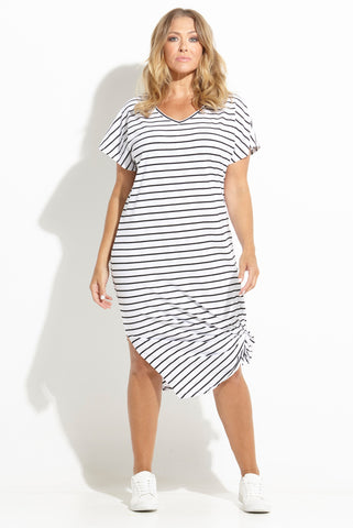 Striped Maxi Tee Dress 17 Sundays