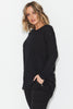 Slub Knit Top- Black