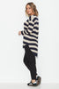 Slub Knit Top - Navy/ Bone Stripe