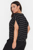 Striped Cotton Cocoon Tee
