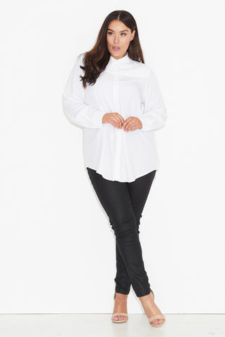Basic longline shirt- White 17 Sundays