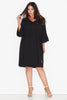 Basic Frill Sleeve Dress- Black 17 Sundays