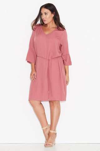 Basic Frill Sleeve Dress- Rose 17 Sundays