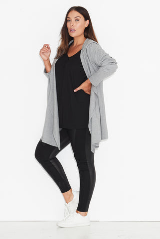 Basic Hooded Drape Cardigan 17 Sundays